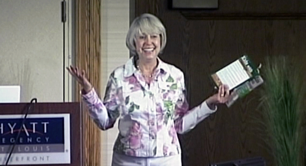 "At a conference in St. Louis, Barbara shares a story from her book ""Kids With Courage""."